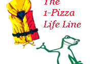 Cartoon chameleon says The 1-Pizza Business Life Lline - Add Value to Your Pizza Brand